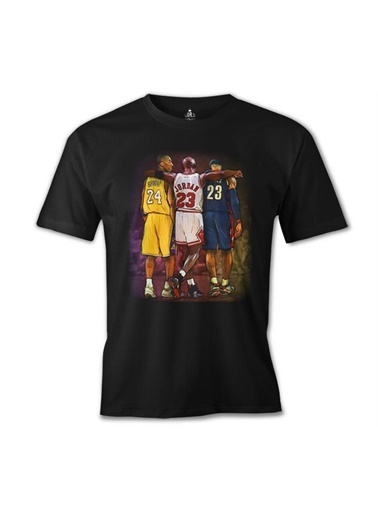 Lord Tshirt Basketball - Jordan & James & Bryant Siyah